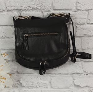 Alberta di Canio black leather crossbody bag